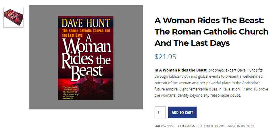 a-woman-rides-the-beast-dave-hunt-roman-catholic-church-revelation-17-nteb-christian-book-store-saint-augustine-florida-chrislam