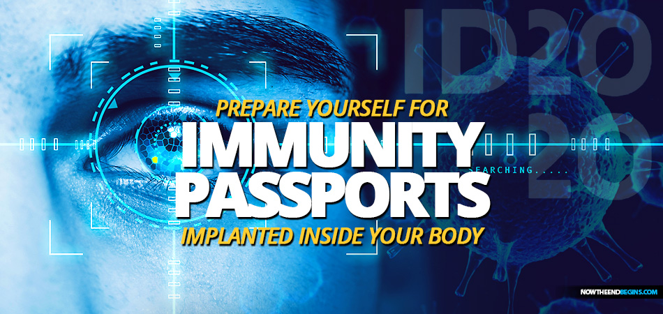 Prepare yourself for COVID-19 immunity passports using coronavirus vaccinations, blockchain, nanotechnology and digital identification from ID2020. It's the Mark of the Beast 666 system.